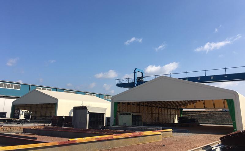 移動式テント倉庫
